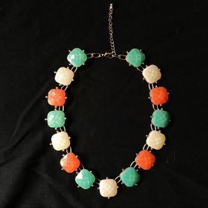 Mint green, peach and white Necklace